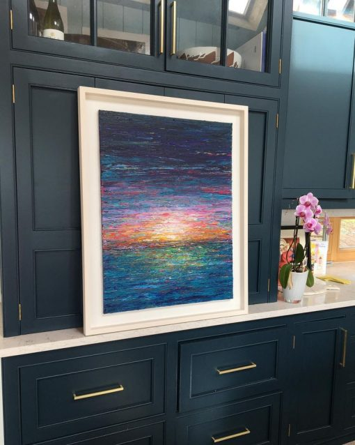 Sunset over Dingle Framed painting